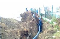 Ipari beruházásaink... Ivóvíz nyomócső fektetés